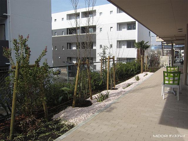 集合住宅への造園施工