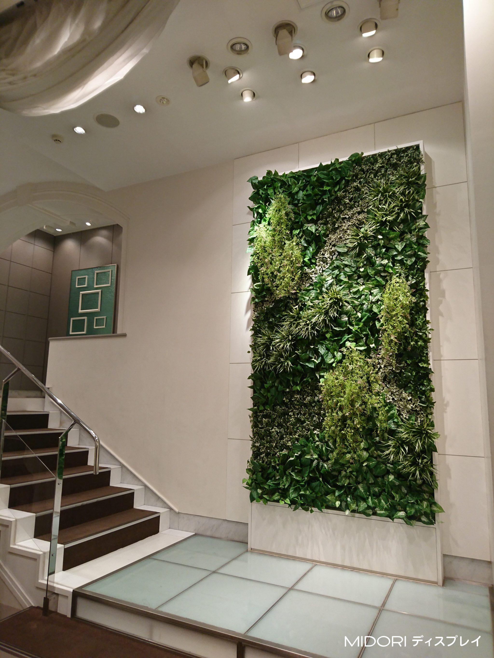 式場へのグリーン装飾