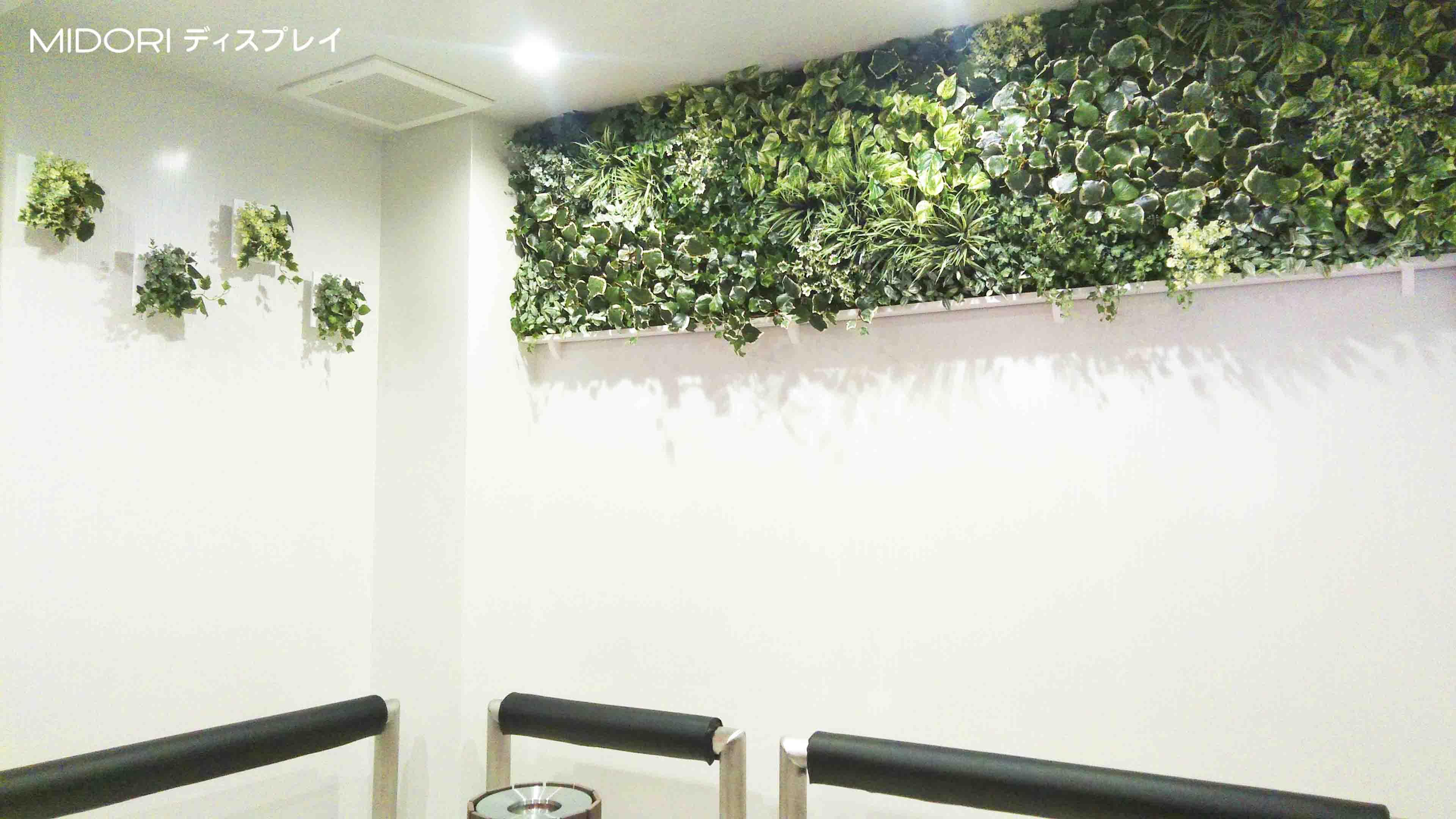 アミューズメント施設内喫煙室へのアートグリーンフレーム施工
