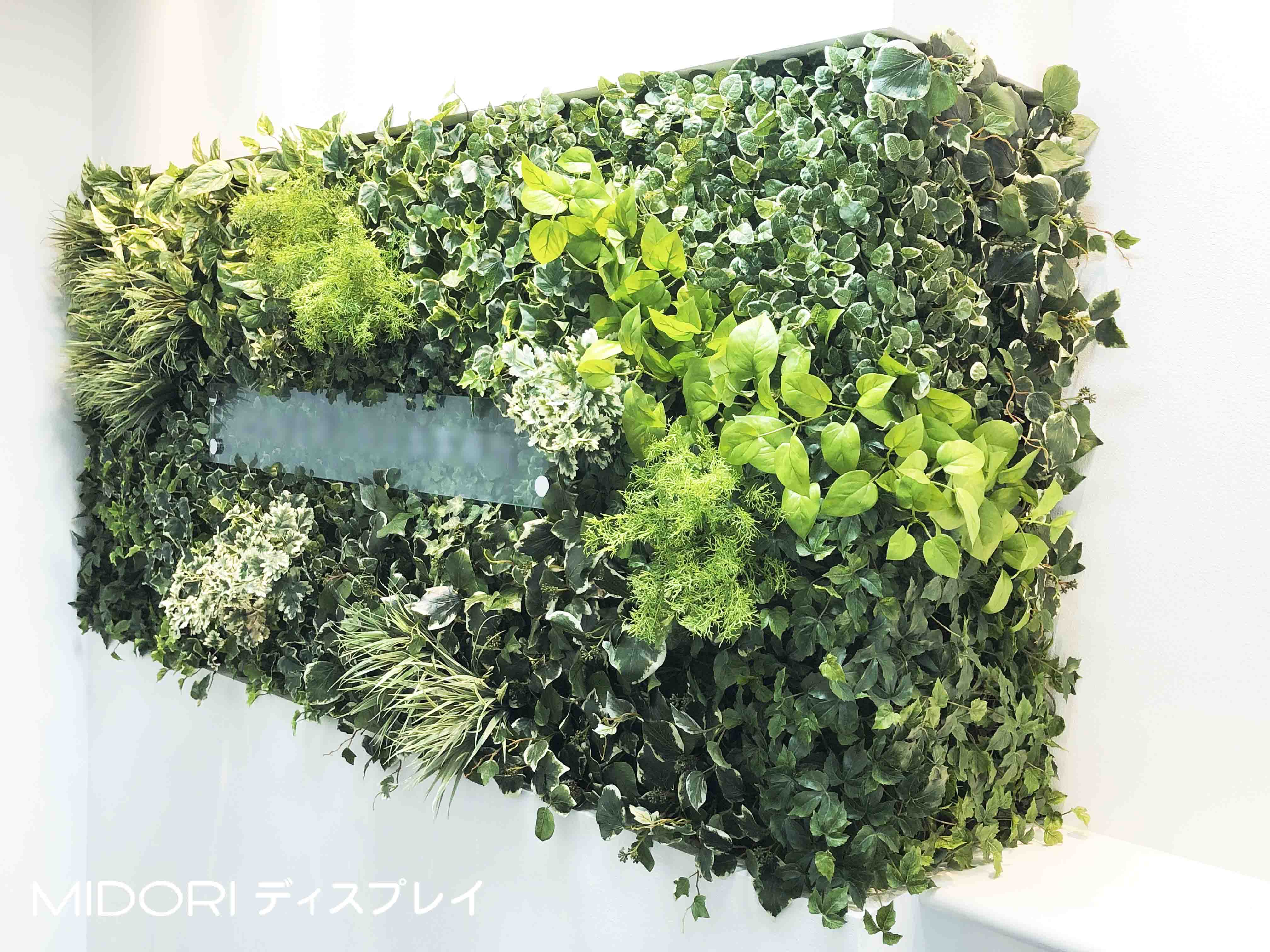 オフィスエントランスへのアートグリーン緑化