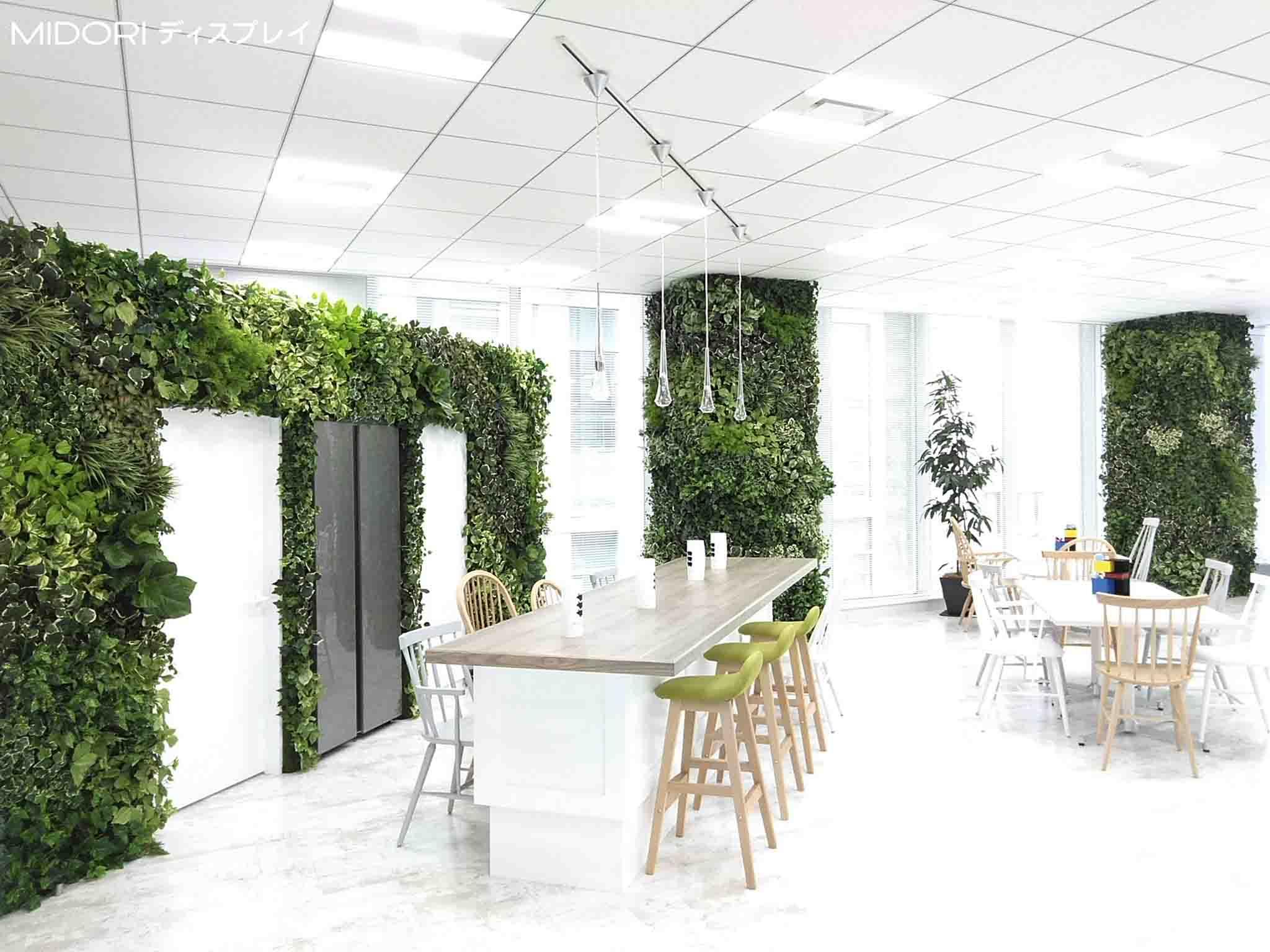 某企業リクルートフロアへのアートグリーン緑化施工