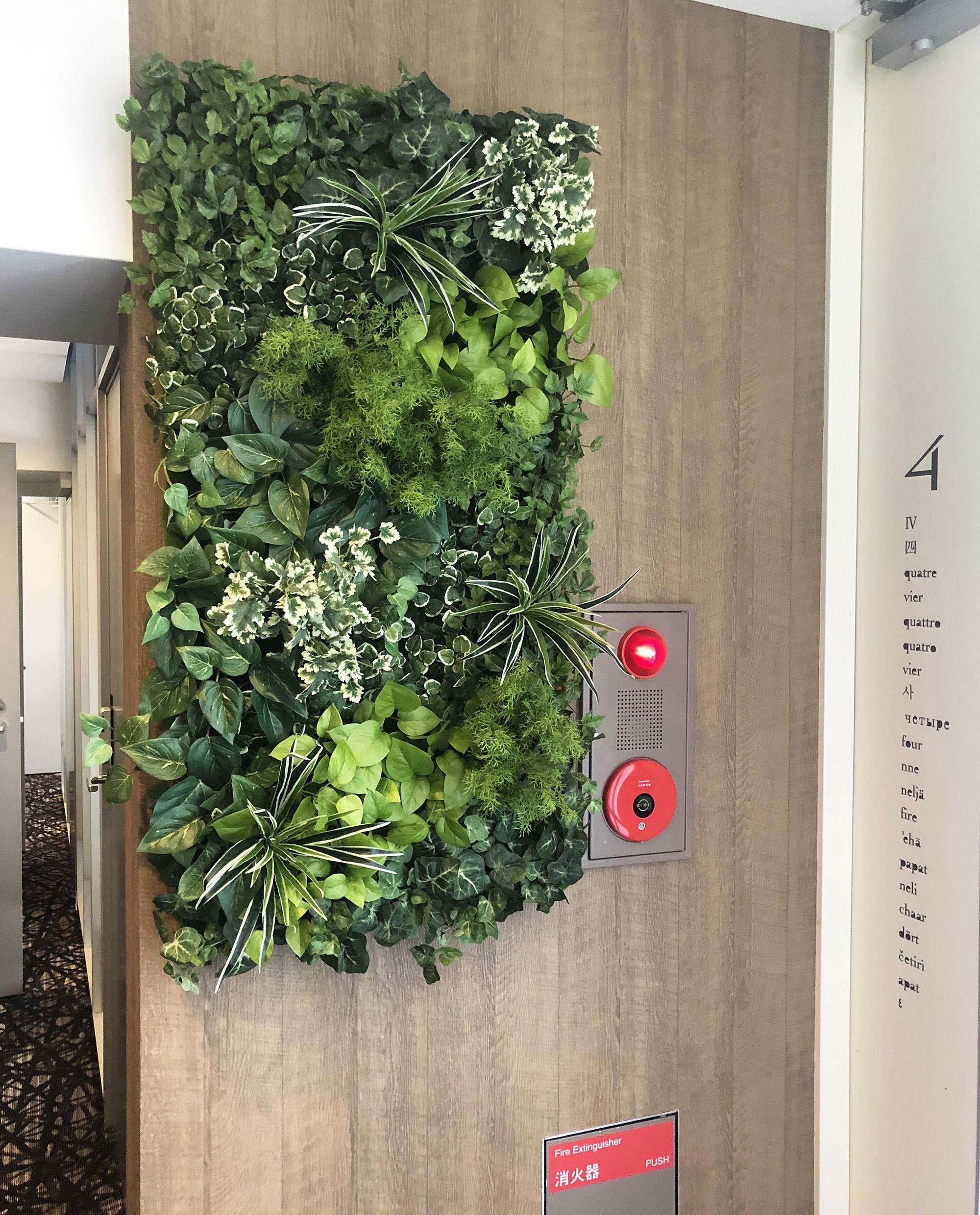 エレベーターホールへの装飾